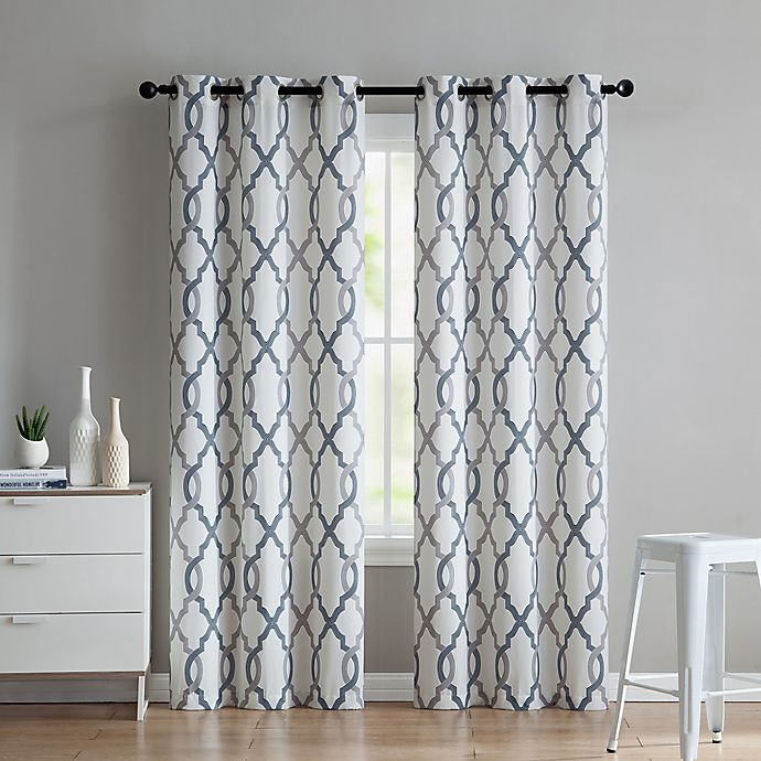 Alternate image 1 for VCNY Home Caldwell 2-Pack 96-Inch Grommet Window Curtain Panels in Indigo