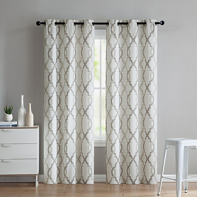 Alternate image 1 for VCNY Home Caldwell 2-Pack 84-Inch Grommet Window Curtain Panels in Taupe