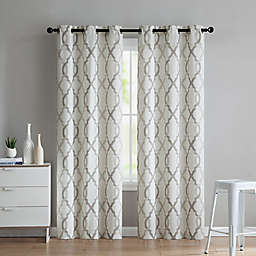VCNY Home Caldwell 2-Pack 84-Inch Grommet Window Curtain Panels in Taupe