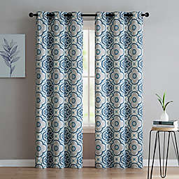 VCNY Home Winstead 96-Inch Grommet Top Window Curtain Panel Pair in Silver