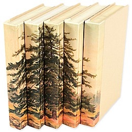 Leather Books 1826 Strutt Trees Re-Bound Decorative Books in Cream (Set of 5)