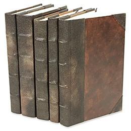 Leather Books Stingray Pattern Re-Bound Decorative Books (Set of 5)