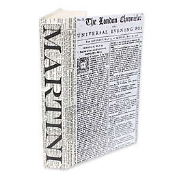 Leather Books Martini Newsprint Re-Bound Decorative Book