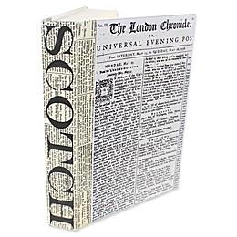 Leather Books Scotch Newsprint Re-Bound Decorative Book