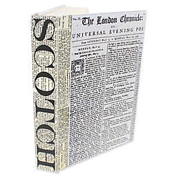 Leather Books Scotch Newsprint Re-Bound Decorative Book