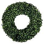 Pure Garden Boxwood 16.5-Inch Round Wreath