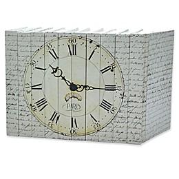 Leather Books English Novels Paris Clock on Vintage Script Re-bound Decorative Books (Set of 10)