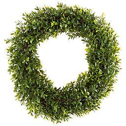 Pure Garden 15-Inch Hedyotis Round Wreath