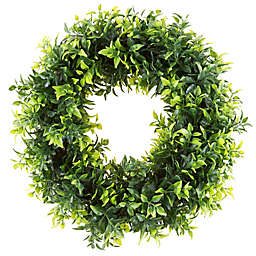 Artificial Opal Basil Wreath