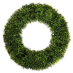 Pure Garden 20-Inch Round Grass Wreath