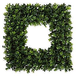 Pure Garden 16.5-Inch Square Boxwood Wreath