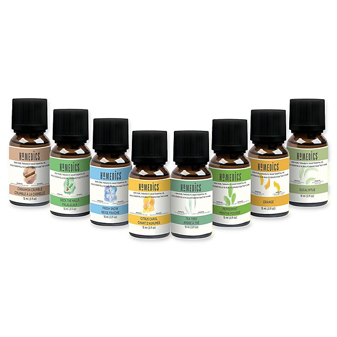 Alternate image 1 for HoMedics® Essential Oil Gift Set with 8 Oils