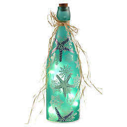 Home Essentials and Beyond Decorative LED Holiday Snowflake Bottle