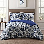 Style 212 Bettina Reversible Full/Queen Floral Comforter in Blue