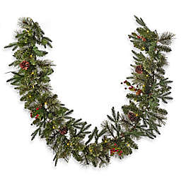 6 foot pre lit traditional garland set of 2 - Garland Christmas Decor