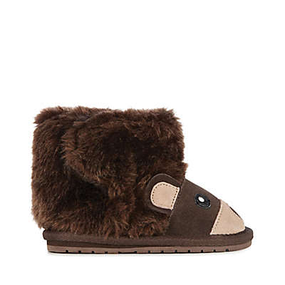 EMU Australia Wool Bear Bootie in Brown