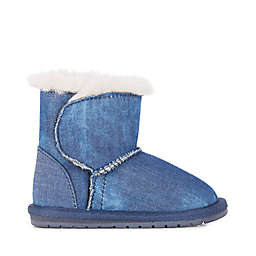 EMU Australia Wool Denim Bootie in Indigo