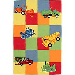 KAS Kidding Around Trucks Galore Rug