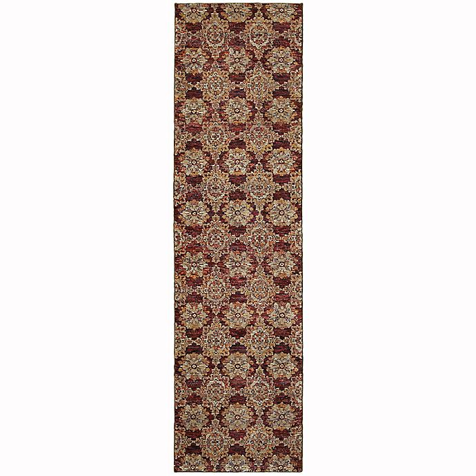 Alternate image 1 for Oriental Weavers Andorra Floral Medallion 2-Foot 3-Inch x 8-Foot Runner in Red