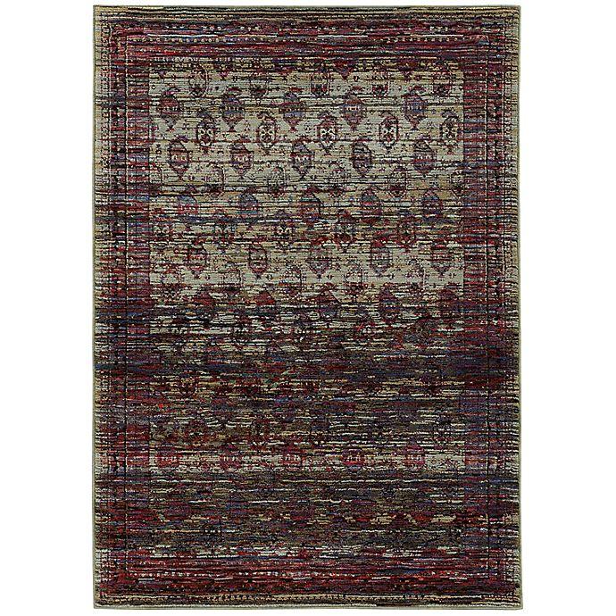 Oriental Weavers Andorra Border Striations Multicolor Rug