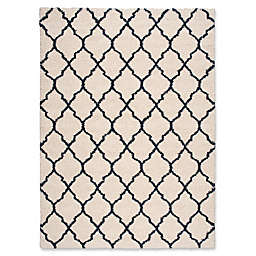 Nourison Amore Amor2 6-Foot 7-Inch x 9-Foot 6-Inch Area Rug in Ivory/Blue