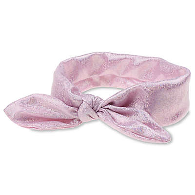 Capelli New York Foil Knotted Headband in Pink