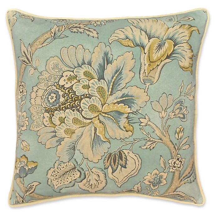 Alternate image 1 for Rose Tree Odessa Floral Square Throw Pillow in Teal