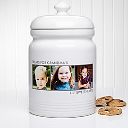 Picture Perfect 3-Photo Multicolor Cookie Jar