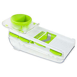 Paderno World Cuisine 5-Blade Mandoline and Grater in White/Green
