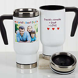 Photo Message for Him 14 oz. Commuter Travel Mug