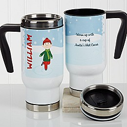 Ice Skating Character 14 oz. Commuter Travel Mug