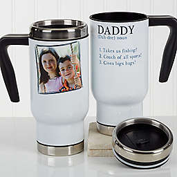 Definition of Dad/Grandpa 14 oz. Photo Commuter Travel Mug