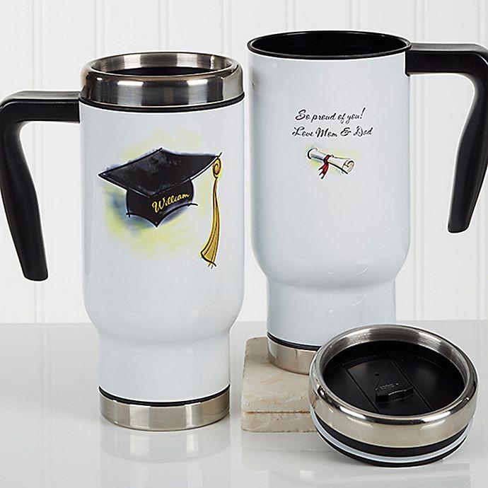 Alternate image 1 for Cap & Diploma 14 oz. Commuter Travel Mug