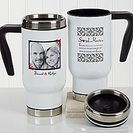 Soul Mates 14 oz. Photo Commuter Travel Mug