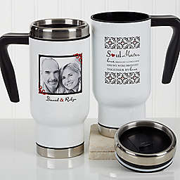 Soul Mates 14 oz. Photo Commuter Travel Mug