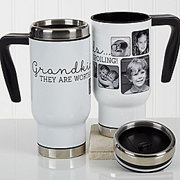 They're Worth Spoiling Photo 14 oz. Travel Mug in White