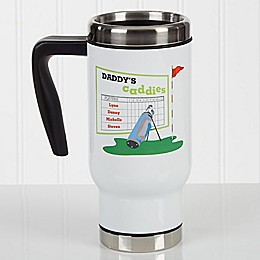 His Favorite Caddies 14 oz. Travel Mug in White