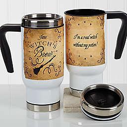 Witch's Brew 14 oz. Travel Mug in White