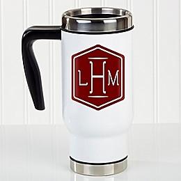 Classic Monogram 14 oz. Commuter Travel Mug in White