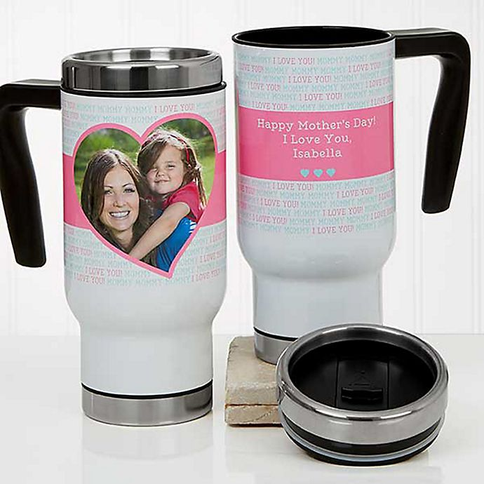 Alternate image 1 for Love You This Much 14 oz. Commuter Travel Mug in White