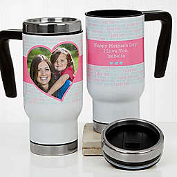 Love You This Much 14 oz. Commuter Travel Mug in White