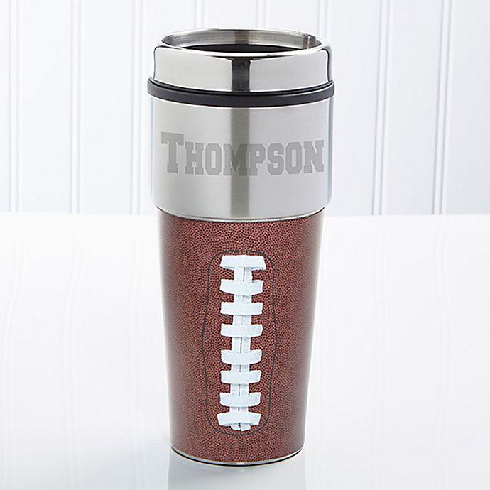 Alternate image 1 for Touch Down! Football 16 oz. Travel Mug