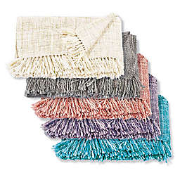 Mina Victory by Nourison Basket Weave Throw Blanket