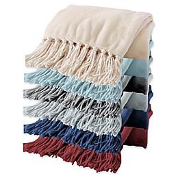 Great Bay Home Raya Fringed Ultra Plush Throw Blanket