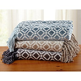 Great Bay Home Liliana Fringed Ultra Plush Throw Blanket