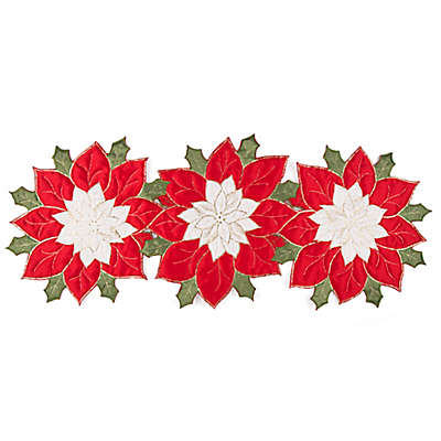 Poinsettia Wonder Holiday Table Runner