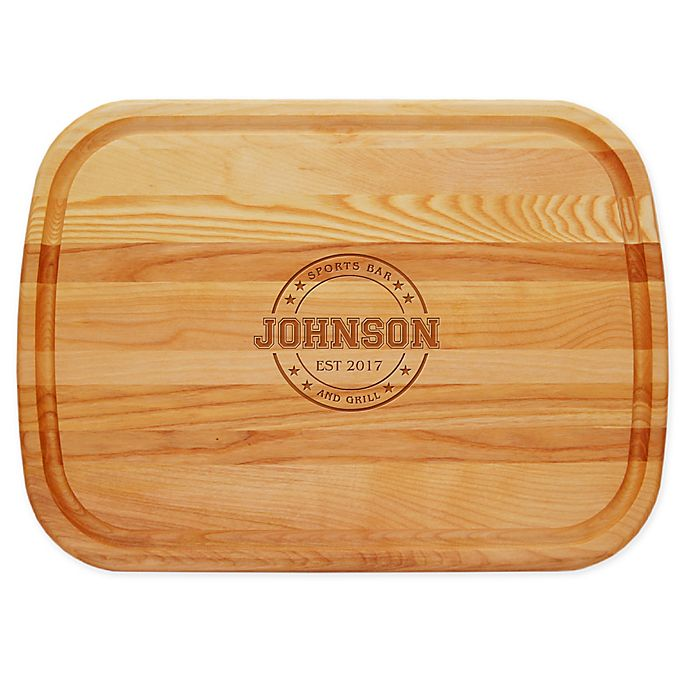 Alternate image 1 for Carved Solutions Sports Bar & Grill 21-Inch x 15-Inch Everyday Board