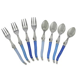 French Home Laguiole 8-Piece Flatware Set in French Blue