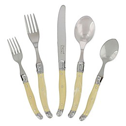 French Home Laguiole 20-Piece Flatware Set in Ivory