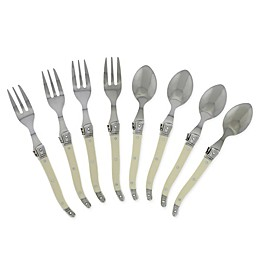 French Home Laguiole 8-Piece Flatware Set in Ivory